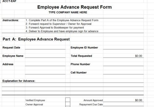 Payroll Advance Request Form / Guaranteed Personal Loans No Credit