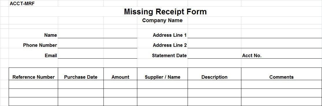 Lost receipt form template dolapgnetband lost receipt form template thecheapjerseys Image collections