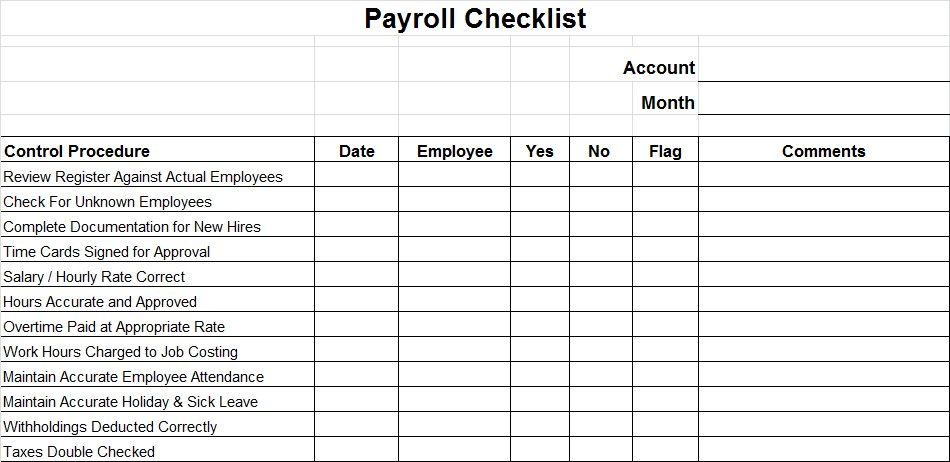 Payroll Controls And Procedures Vitalics