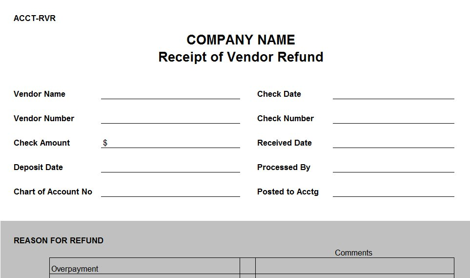 Refund Receipt Template 28 Images Free Receipt Templates Page 2