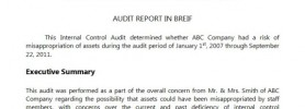 Internal audit questionnaire for purchases