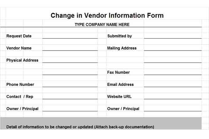 New customer account setup form template for Supplier reconciliation template