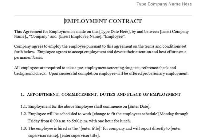 Hr Contract Templates Consulting Agreement Example Hr Agreement